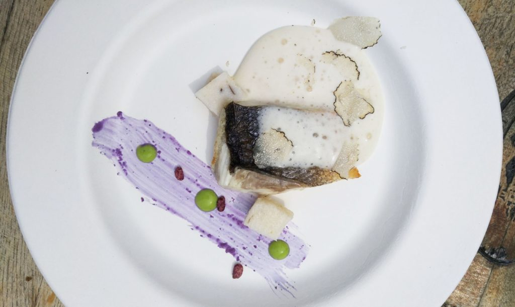 Sea bass with truffle