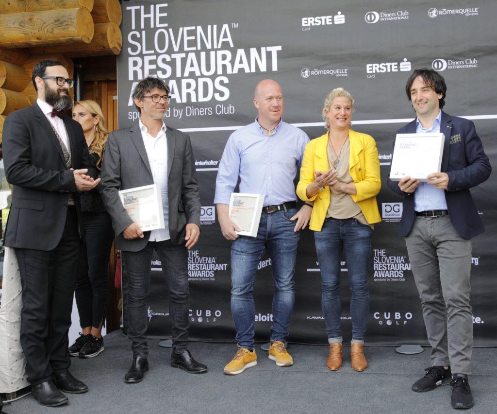 Chef award winners of the top 3 best restaurants in Slovenia at THE Slovenia Restaurant Awards 2019