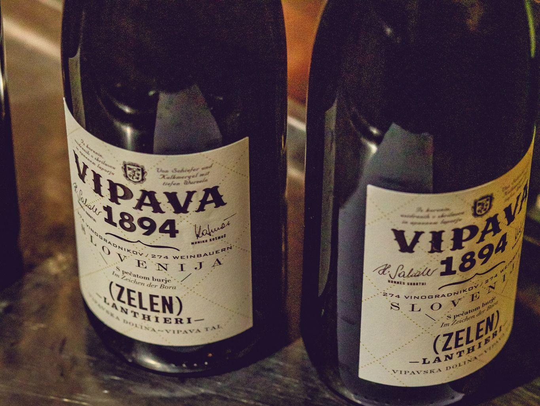 Two bottles of Vipava 1894 Zelen wine