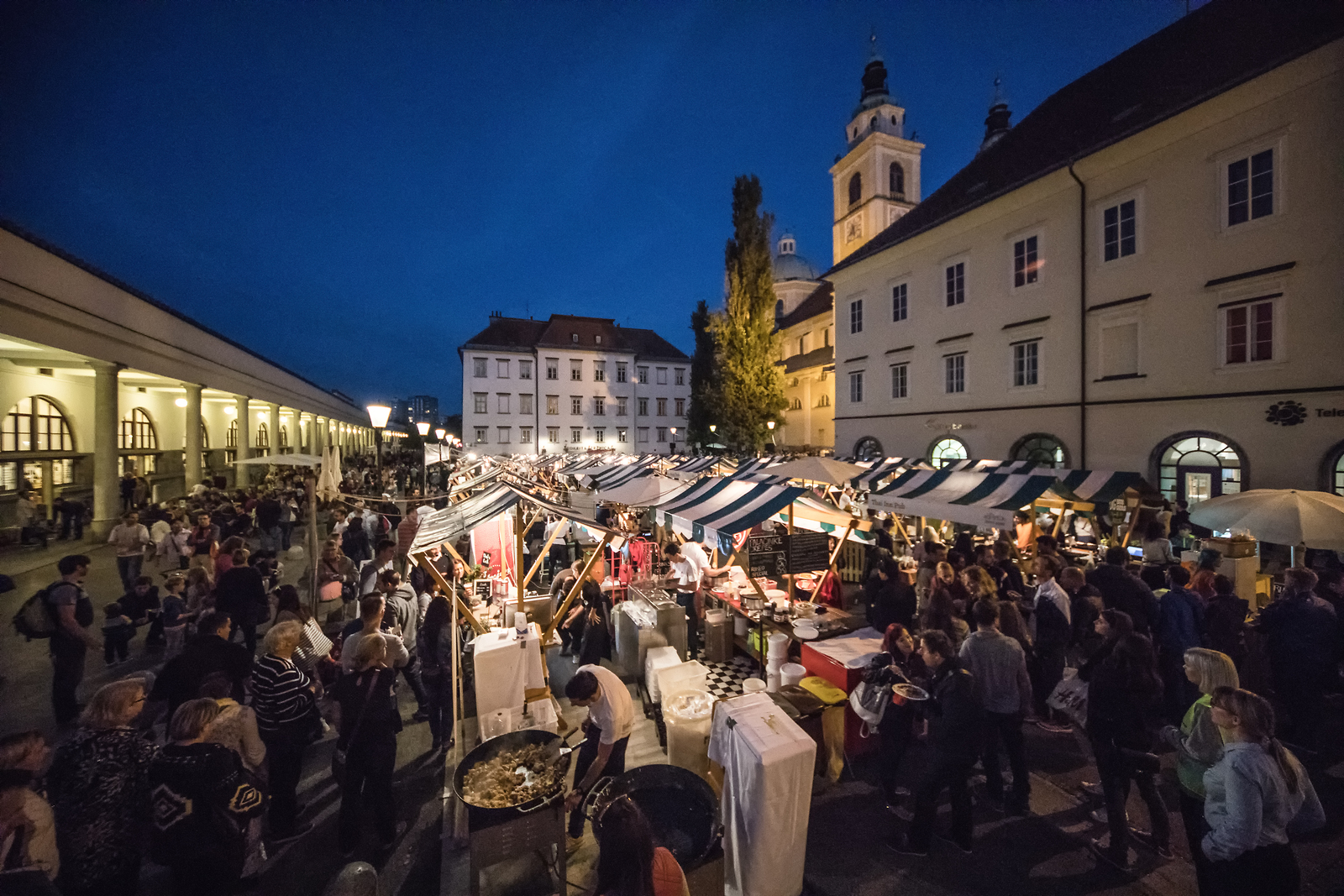 Odprta Kuhna (Open Kitchen), one of Ljubljana's most popular and regular food events