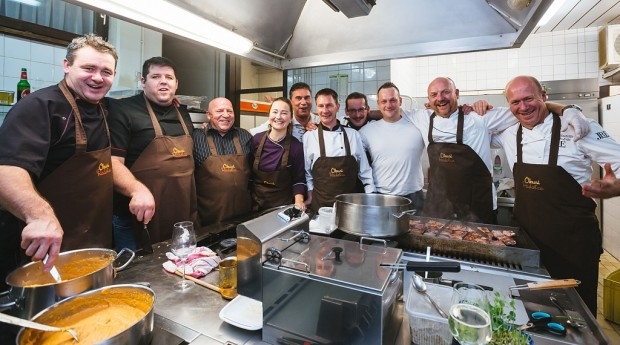 Chefs taking part in the Taste Radovljica month of cuisine in Slovenia