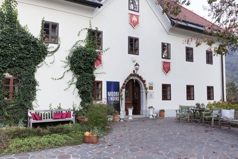 Boutique hotel Kendov Dvorec Relais & Chateau in Spodnja Idrija, which is host to the Modri Les Noirs Wine Festival