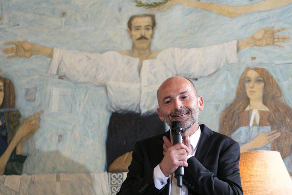 Matjaz Lemut of Tilia Estate Winery speaks at the Modri Les Noirs Wine Festival