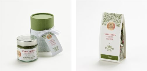 'Pinch of Joy' herbal salt & 'Garden Flower' tea by Mateja Reš