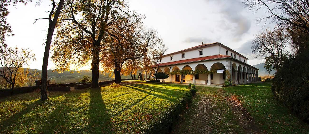 The exterior of Gostilna pri Lojzetu - Dvorec Zemono restaurant in Vipava