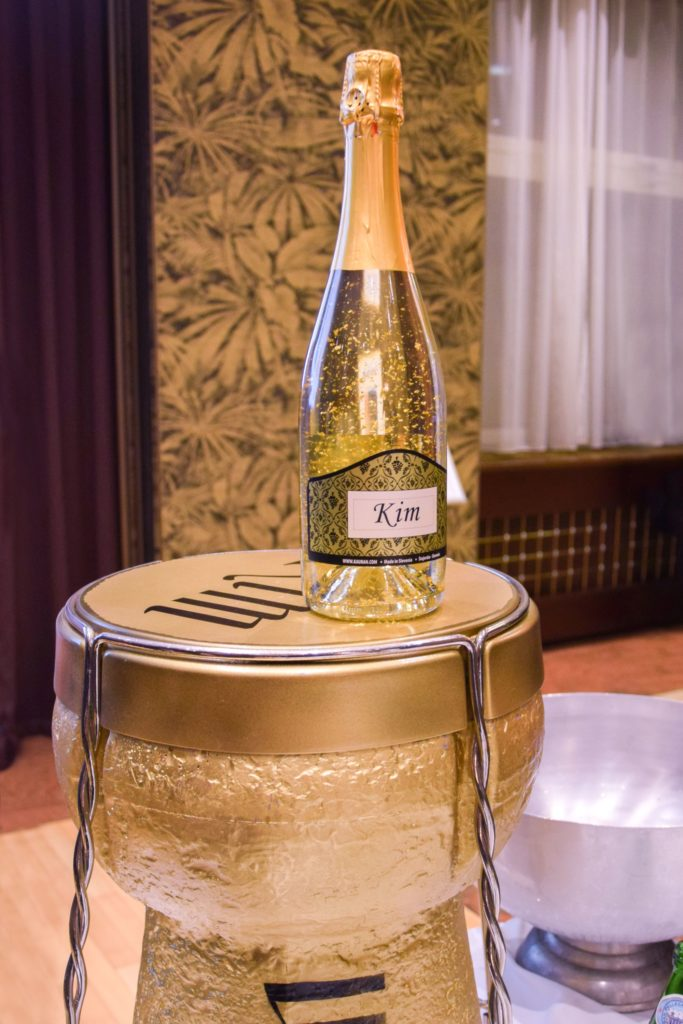 Bottle of sparkling wine