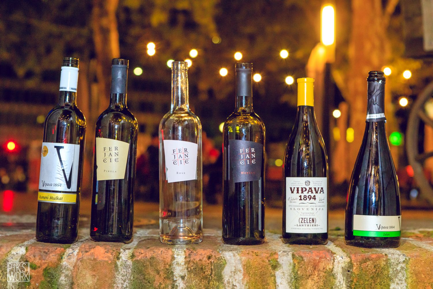 Six bottles of wine from the Vipava Valley in Slovenia