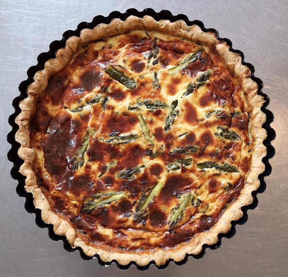 Asparagus & parmesan quiche by Bazilika Bistro