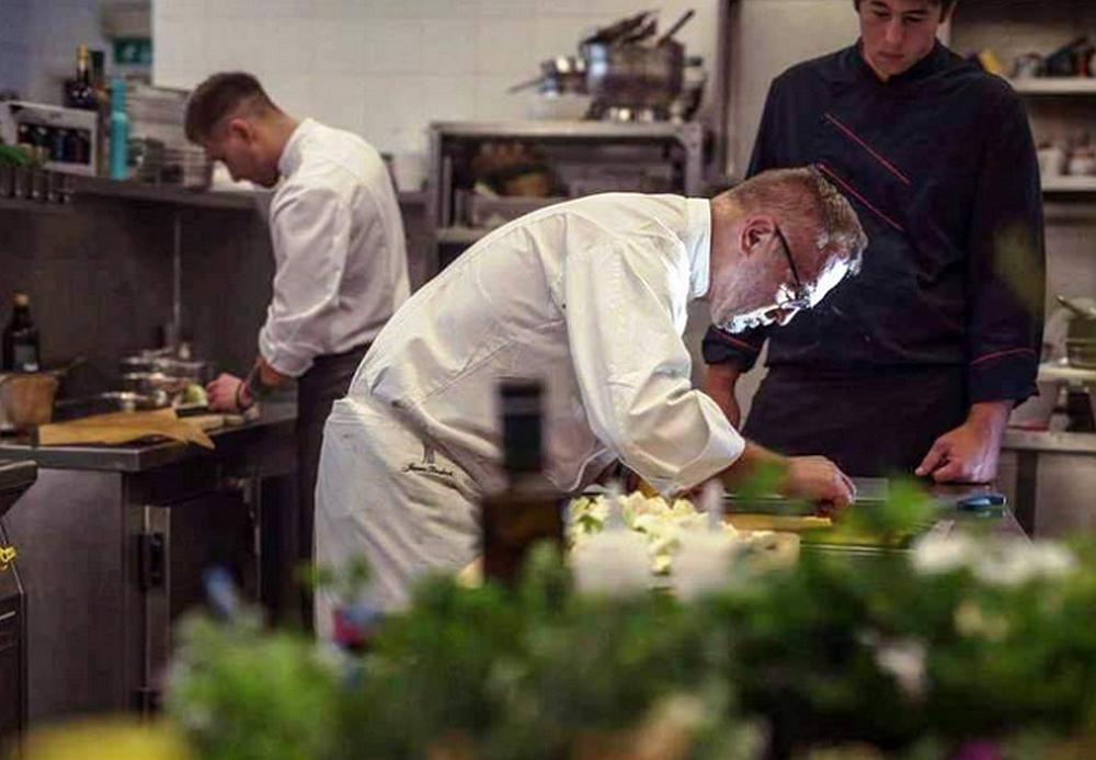 Janez Bratovž at work in his JB Restaurant kitchen in Ljubljana