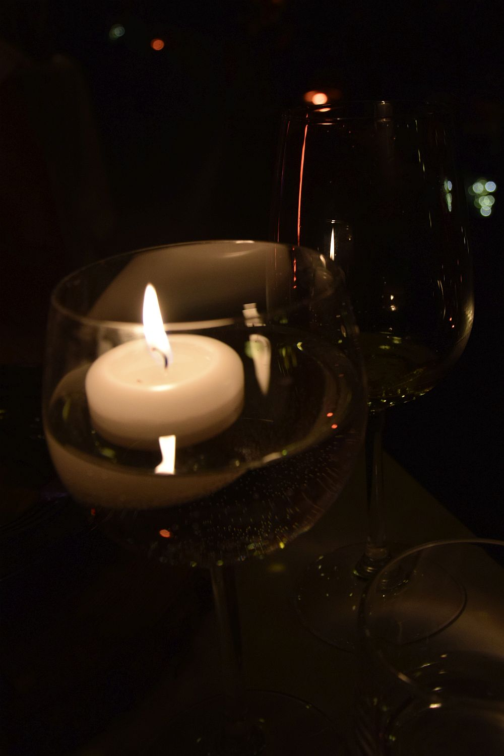Candlelight at the Strelec Restaurant Ljubljana Castle Vineyard dinner