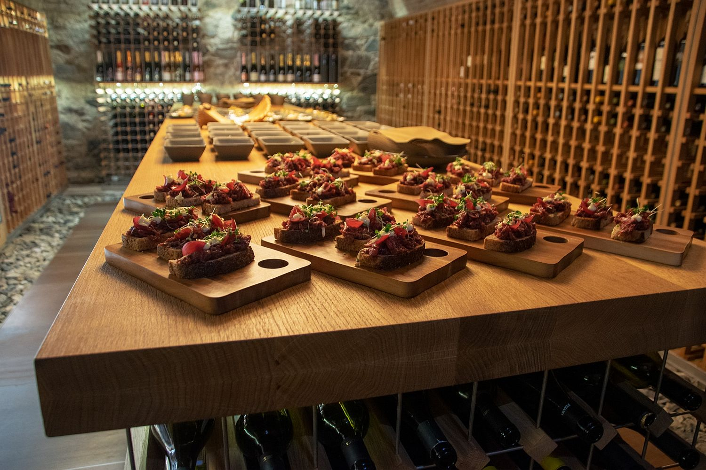 Food presentation at Ljubljana Castle Wine Bar & Bistro Strelec