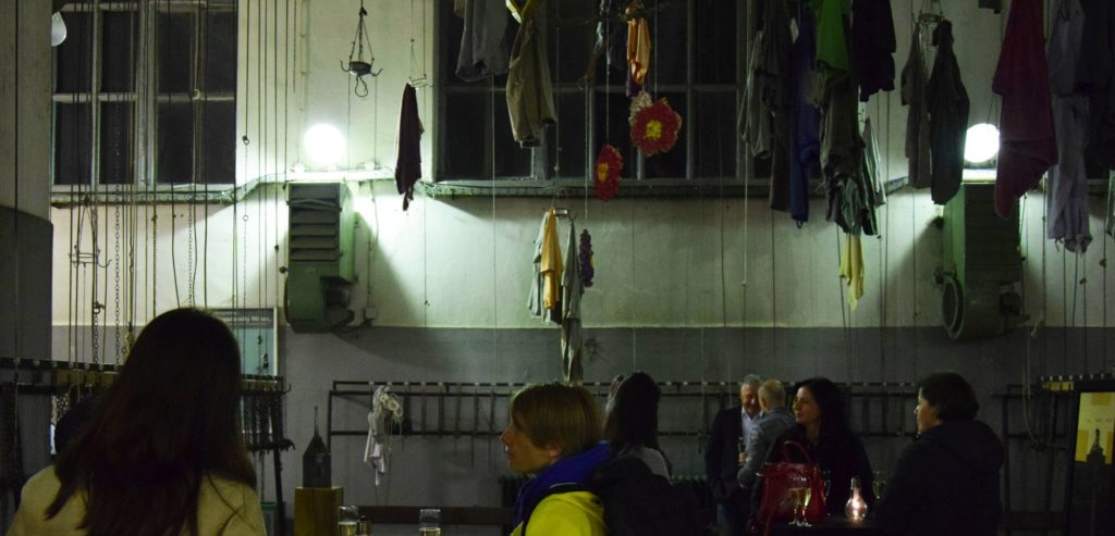 Airing room above entrance to Velenje coal mine where workers would leave their clothes to air at the end of the day