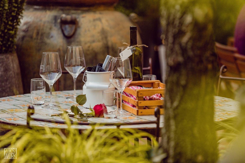 Romantic culinary setting at Slovenska Hiša - Figovec restaurant, Ljubljana