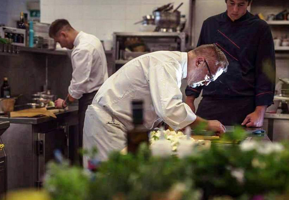 Janez Bratovž at work in his JB Restaurant kitchen in Ljubljana