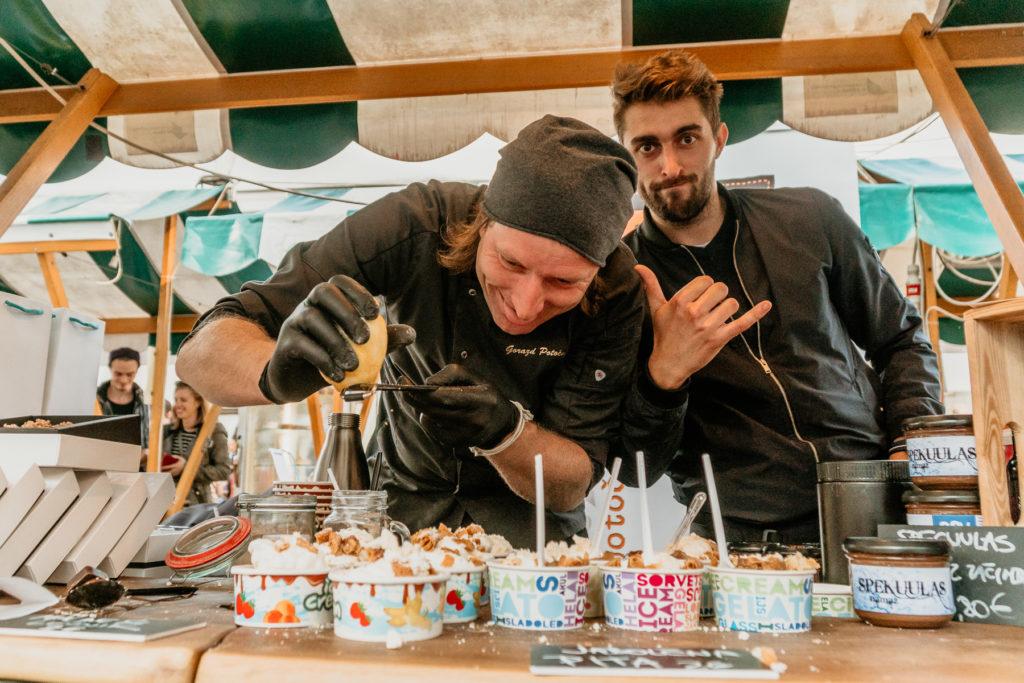 Chocolate makers at Ljubljana's Čokoljana Chocolate Festival