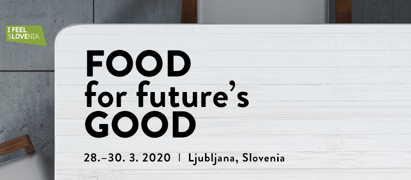 Poster for the European Food Summit being held in Ljubljana, Slovenia