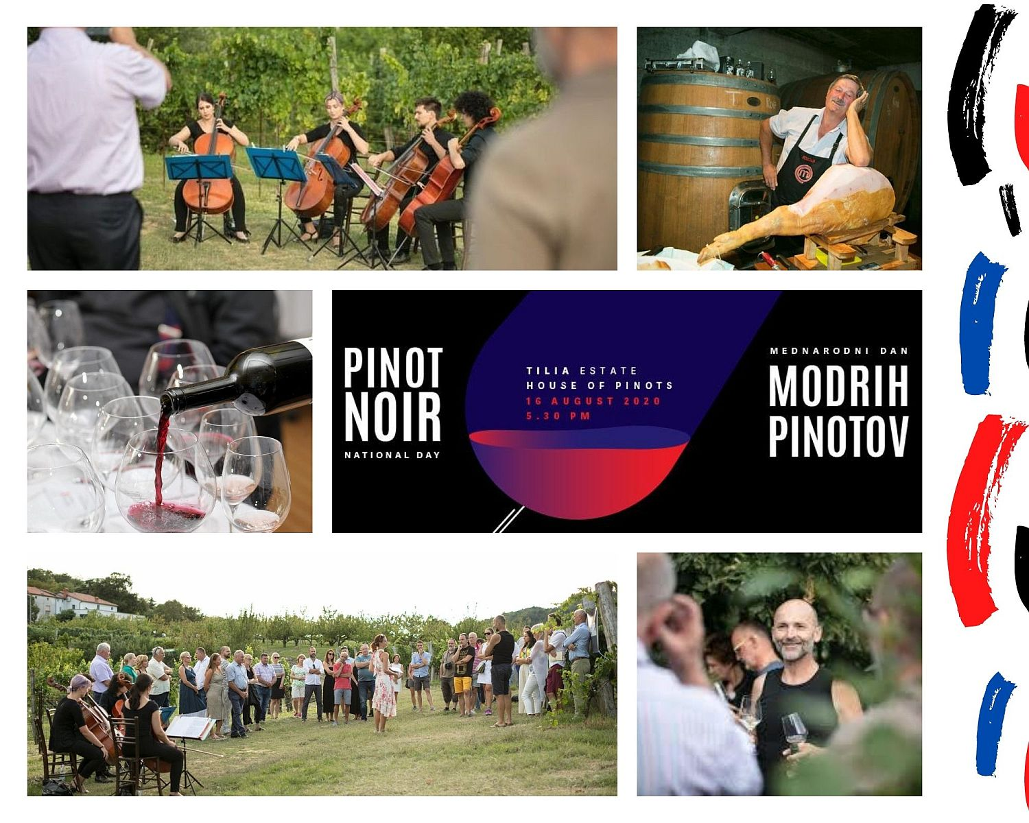 Poster for International Pinot Noir Day at Tilia Estate House of Pinots