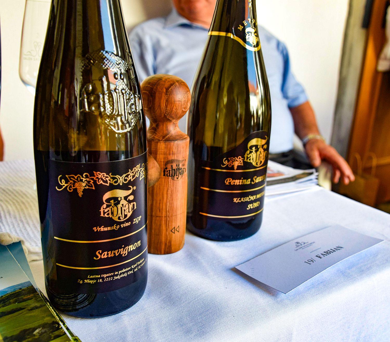 Bottles of Sauvignon by Fabijan Wine Cellar at Ptuj Salon Sauvignon