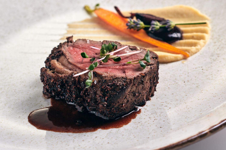 Black Angus steak at Gin & Food Pairing with Karakter Distillery at Restaurant 1906 Hotel Triglav Bled