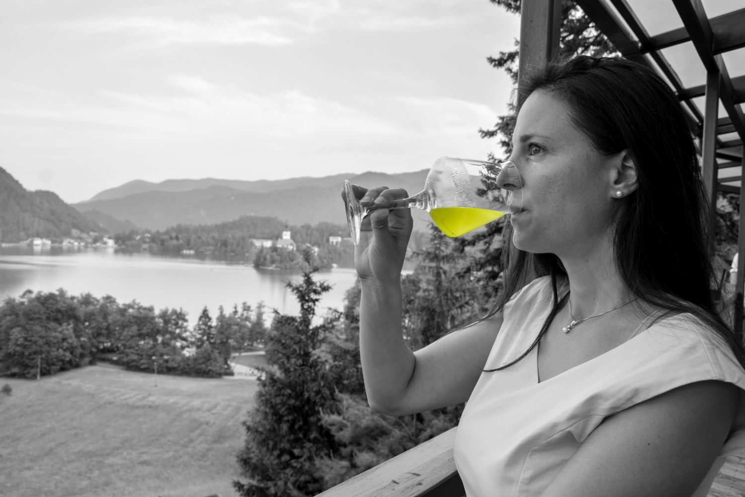 Denise Rejec of Wine Dine Slovenia at a food and gin pairing at Restaurant 1906 Bled
